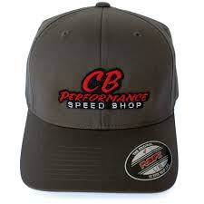 7974 Grey Flexfit Hat Speed Shop Logo L Xl