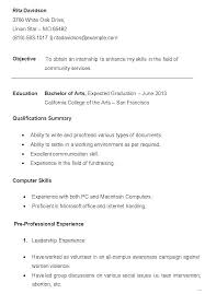 Freshman College Student Resume Simple Resume Samples For Freshmen College Students With Objective For A