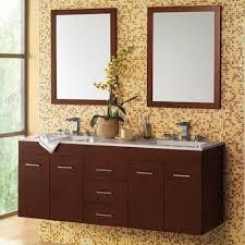 Bamboo Vanity Bathroom Custom Wall Mounted Bathroom Vanity Floating Single And Double Sink