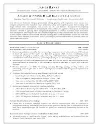 10 Best Images Of Coaching Resume Examples Basketball Coach