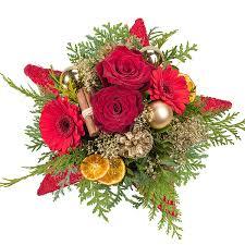 Blumenstrauß Weihnachtsstern Und Gratis Advents Mandeln