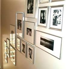 silver collage frame wall decoration medium size mirror glass of photos