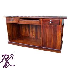 wooden office. Solid Wood Office Counter Table (without Top Glass) Wooden U