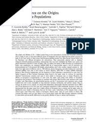 Genetic Evidence on the Origins of Indian Caste Populations: Michael  Bamshad | Haplotype | Population Genetics