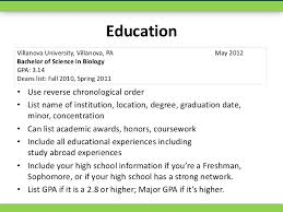 ... position; 6. EducationVillanova University, Villanova ...