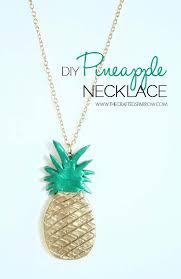 diy necklace ideas diy pineapple necklace pendant beads statement choker