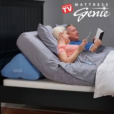 Mattress Genie Adjustable Bed Wedge Pillow for Elevating the Head