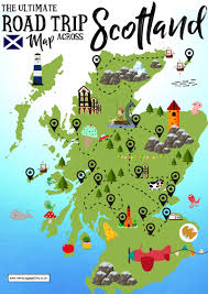 the ultimate map of things to see when visiting scotland  hand