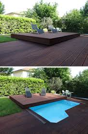 Deck Design Idea  This Raised Wood Deck Is Actually A Sliding Pool Cover |  CONTEMPORIST