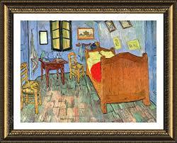 framed poster bedroom at arles vincent van gogh oil paintings prints frame