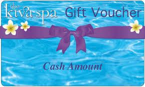 cash amount gift vouchers