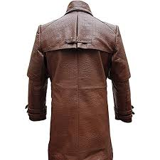 home mens coats jackets mens real brown aligator crocodile leather duster riding hunting steampunk trench matrix coat t7