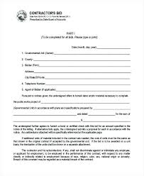Contract Bid Proposal 9 Bid Proposal Form Samples Free Sample Example Format Download