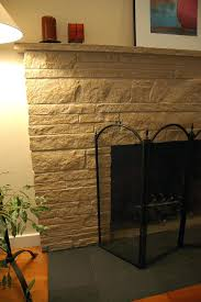 after detail painted stone fireplace flat black hearth simple modest zen paint gray grey ideas painted stone fireplace