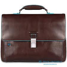 <b>Портфель Piquadro</b> CA3111B2/MO <b>Blue</b> Square коричневый ...