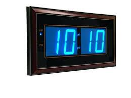 digital office wall clocks digital. Battery Wall Clocks Digital Led Operated Clock Inside . Office M