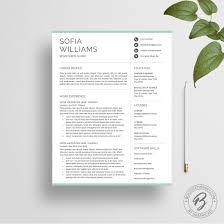 Resume Template Sofia