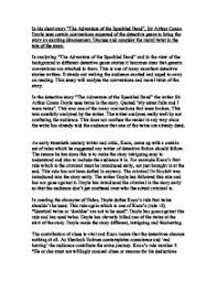 in his short story the adventure of the speckled band sir page 1 zoom in