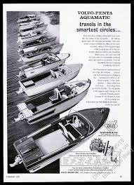 volvo penta aquamatic outboard boat motor 11 boats vine print adver