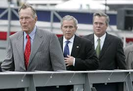 following his father s footsteps the path of jeb bush the from left former president george h w bush then president george w bush