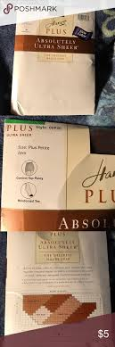 Hanes Hosiery Color Chart Hanes Sheer Stockings Size Plus Petite See Chart Listing