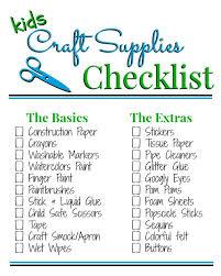 kids craft supply list