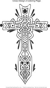 Celtic Cross Design 2 Coloring Page