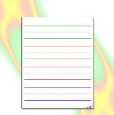 Line Paper Magnificent Preschool Writing Paper Lined Paper For Kindergarten Etsy