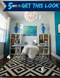 office room diy decoration blue. 5 Ways To Get This Look: Blue Office. Interior OfficeOffice DecorOffice Office Room Diy Decoration B
