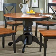 round dining room table with chairs home styles 5168 30 round pedestal dining table black and