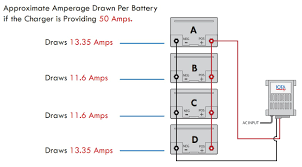 charging batteries in parallel how to charge batteries in parallel 48 Volt Battery Bank Wiring at 3 Bank On Board Battery Wiring Diagram