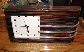 gilbert rohde streamline clock replica custom replica of one of the most desirable and sought after gilbert rohde streamline clocks of the 1930s art deco art deco reproduction furniture