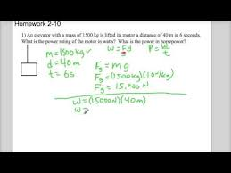 physics work and power problem hw  physics work and power problem hw2 10 1