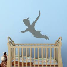 peter pan wall decal shadow peter pan silhouette fantasy fairytale wall decals nursery