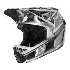 Fox Downhill Mtb Helmet Rampage Pro Carbon Beast Metallic Silver