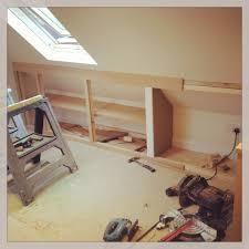 loft storage. loft storage work in progress www.fittedbespokefurniture.co.uk