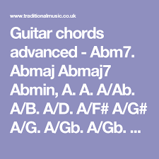 advanced guitar chords guitar chords advanced abm7 abmaj abmaj7 abmin a a a ab a b