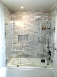 tub shower doors bath sliding no bottom track glass for durban