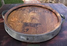 wine barrel lazy susan arched napa valley wine barrel