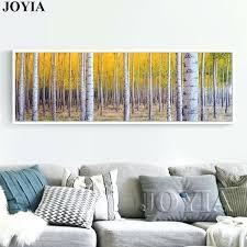tree wall art canvas large white birch painting tree forest picture trees wall art canvas for