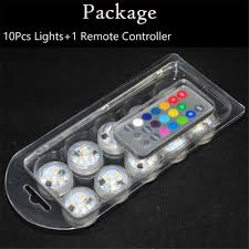 Radio Controlled Led Lights 12 Pieces Lot Battery Remote Controlled Under Glass Vase