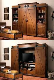 interesting barn door entertainment center electric fireplace with sliding