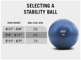 Exercise Ball Size Chart Stability Ball Pump 65 Cm