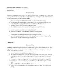 how to write a personal child observation essay observation essay outline ryder exchange