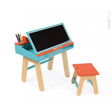 desk and easel 2 in 1 orange and blue