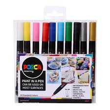 Nikko Spray Paint Color Chart Uni Posca Marker Pen Pcf 350 Brush Set Of 10 Assorted