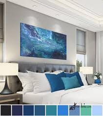 navy blue gray and teal wall art