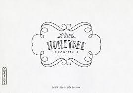 hand drawn style frame logo design