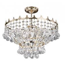 versailles semi flush ceiling chandelier light with trimmed with crystal decoration gold finish 9113 39go