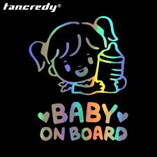 2nd moitié prix bébé à bord autocollants baby nom personnaliser voiture style